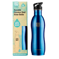 Onya Stainless Steel Drink Bottle Blue ~ 1 Litre