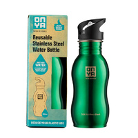 Onya Stainless Steel Drink Bottle Green ~ 500ml