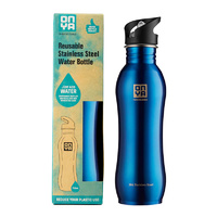 Onya Stainless Steel Drink Bottle Blue ~ 750ml