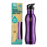 Onya Stainless Steel Drink Bottle Purple ~ 750ml