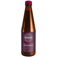 Biona Cranberry Pure Super Juice (Organic) ~ 330ml