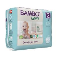 Bambo Nature Nappies Size 2 (S) 3-6 kg ~ 30 Nappies