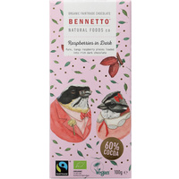 Bennetto Dark Chocolate Raspberry (Organic) ~ 100g