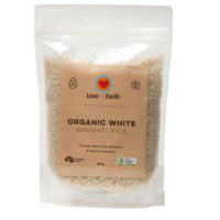 Love My Earth Organic White  Basmati Rice ~ 500g