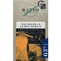Ratio Cocoa Roasters Macadamia & Lemon Myrtle Chocolate 63% (Vegan) ~ 75g