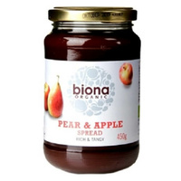 Biona Pear & Apple Jam & Fruit Spread (Organic) ~ 450g