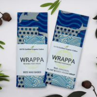Wrappa Hammerhead Beeswax Wrap ~ 3 Pack (2 x Med & 1 x Lrg)
