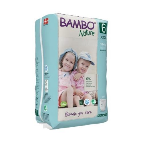 Bambo Nature Pants Size 6 (XXL) 18+ kg ~ 18 Nappies