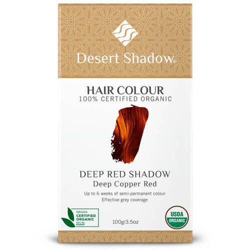 Desert Shadow Organic Hair Dye - Deep Red Shadow 100g