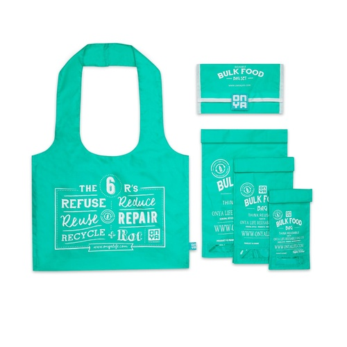 Onya Bulk Food Bag Aqua ~ Set