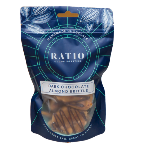 Ratio Cocoa Roasters Dark Chocolate Almond Brittle ~ 220g